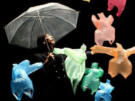 塑料袋木偶