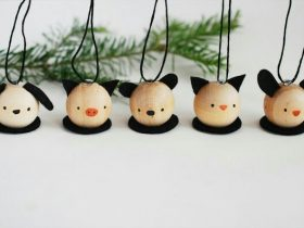 DIY木制动物装饰品