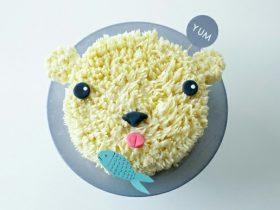 DIY北极熊蛋糕