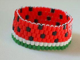 西瓜串珠手链